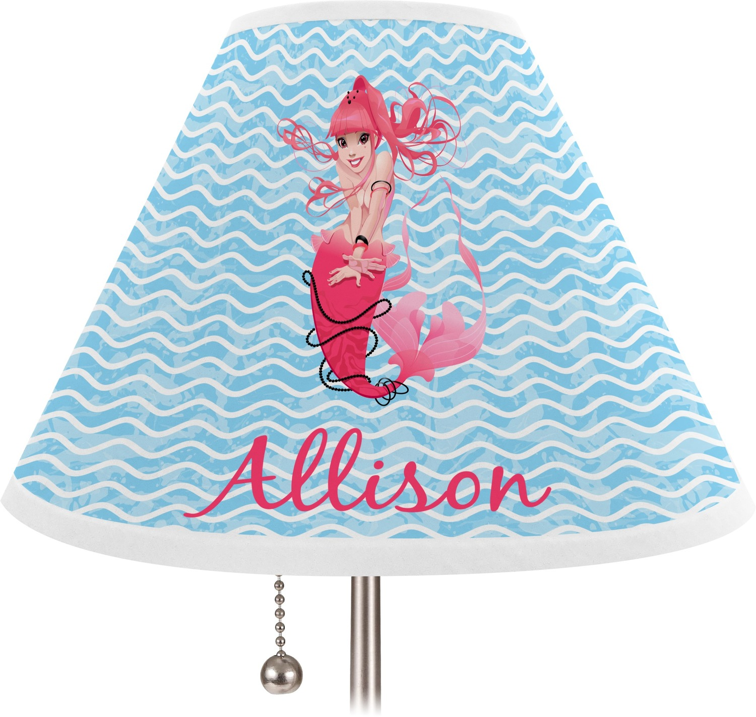 mermaid coolie lamp shade personalized you customize it. Black Bedroom Furniture Sets. Home Design Ideas