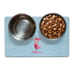 Mermaid Dog Food Mat - Small w/ Name or Text