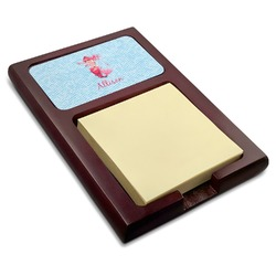 Mermaid Red Mahogany Sticky Note Holder (Personalized)