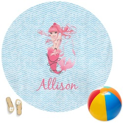 Mermaid Round Beach Towel (Personalized)