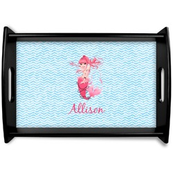 Mermaid Black Wooden Tray (Personalized)