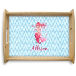 Mermaid Natural Wooden Tray - Large (Personalized)