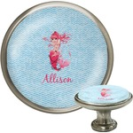 Mermaid Cabinet Knob (Silver) (Personalized)