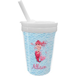 Mermaid Sippy Cup with Straw (Personalized)