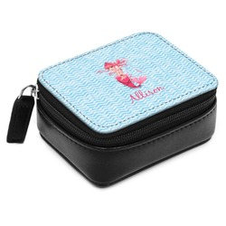 Mermaid Small Leatherette Travel Pill Case (Personalized)