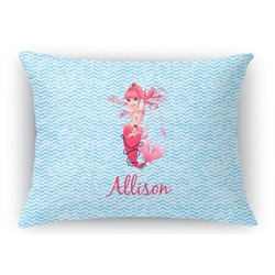 Mermaid Rectangular Throw Pillow Case (Personalized)