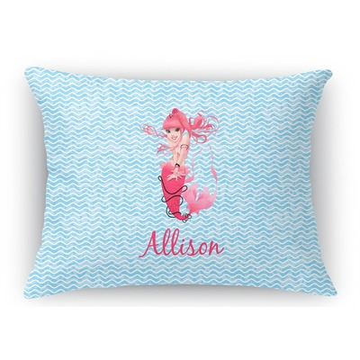 Rectangular Throw Pillow Dimensions : Mermaid Rectangular Throw Pillow - 18
