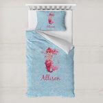 Mermaid Toddler Bedding w/ Name or Text