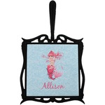 Mermaid Trivet with Handle (Personalized)
