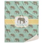 Elephant Sherpa Throw Blanket (Personalized)