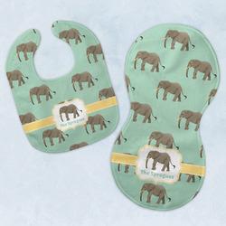 Elephant Baby Bib & Burp Set w/ Name or Text