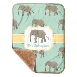 Elephant Sherpa Baby Blanket 30