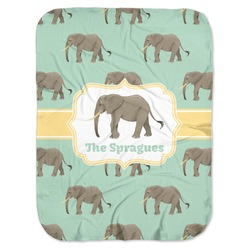 Elephant Baby Swaddling Blanket (Personalized)