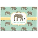 Elephant Woven Mat (Personalized)