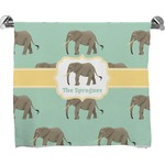 Elephant Full Print Bath Towel (Personalized)