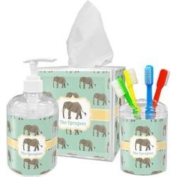 Elephant Acrylic Bathroom Accessories Set w/ Name or Text