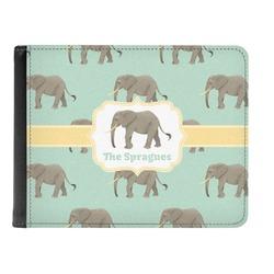 Elephant Genuine Leather Men's Bi-fold Wallet (Personalized)