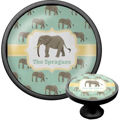 Elephant Cabinet Knob (Black) (Personalized)
