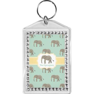 Elephant Bling Keychain (Personalized)