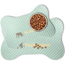 Elephant Bone Shaped Dog Food Mat (Personalized)