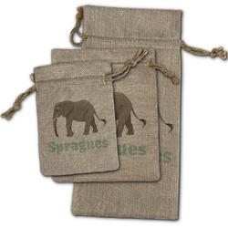 Elephant Burlap Gift Bags (Personalized)