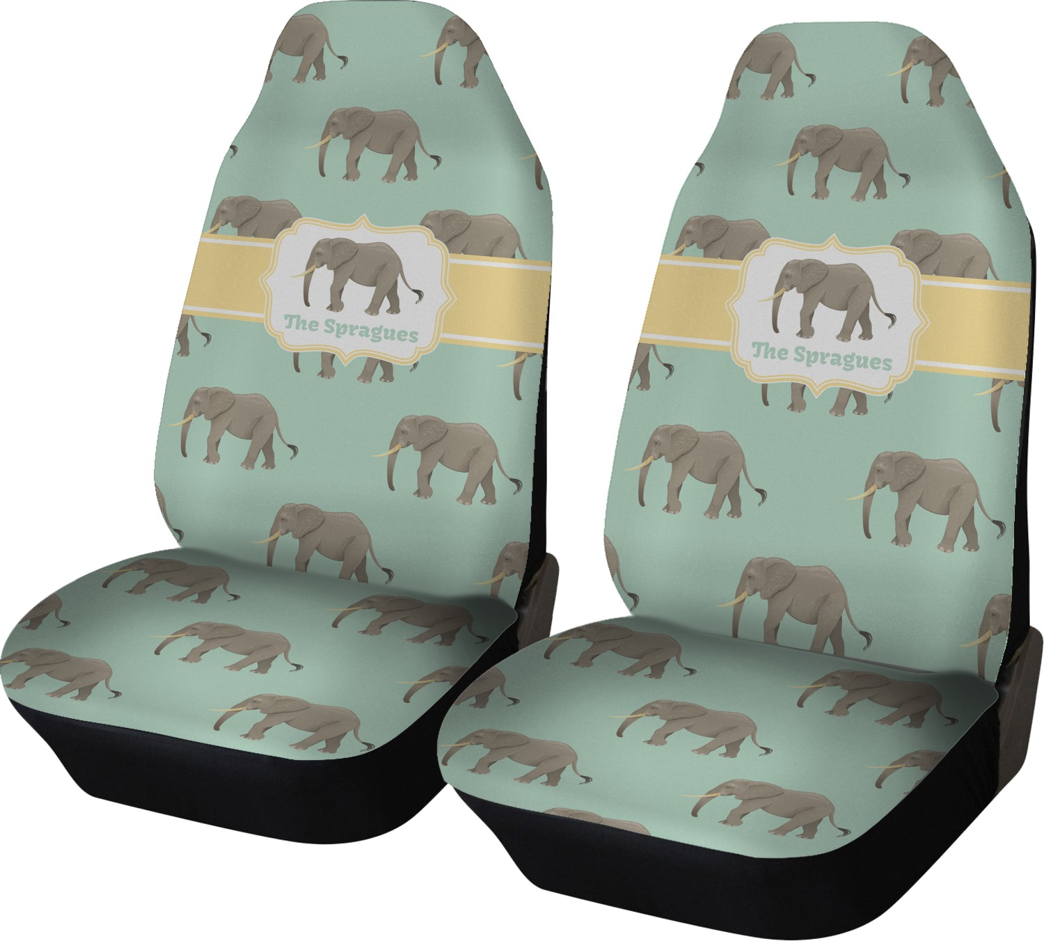 Elephant Car Seat Covers Set Of Two Personalized