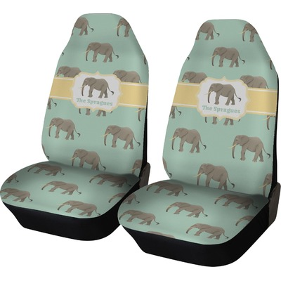 Elephant Car Seat Covers (Set of Two) (Personalized)