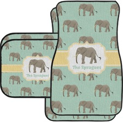 Elephant Car Floor Mats Set - 2 Front & 2 Back (Personalized)