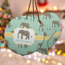 Elephant Ceramic Ornament w/ Name or Text