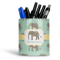 Elephant Ceramic Pen Holder