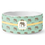 Elephant Ceramic Dog Bowl (Personalized)