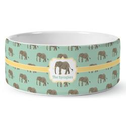 Elephant Ceramic Pet Bowl (Personalized)