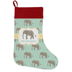 Elephant Holiday / Christmas Stocking (Personalized)