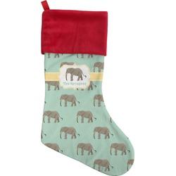 Elephant Christmas Stocking - Single-Sided (Personalized)