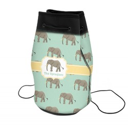 Elephant Neoprene Drawstring Backpack (Personalized)