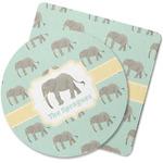 Elephant Rubber Backed Coaster (Personalized)