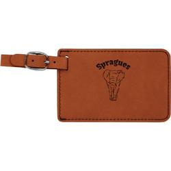 Elephant Leatherette Luggage Tag (Personalized)