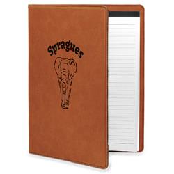 Elephant Leatherette Portfolio with Notepad (Personalized)