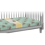 Elephant Crib Fitted Sheet (Personalized)