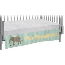 Elephant Crib Skirt (Personalized)