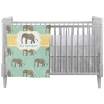Elephant Crib Comforter / Quilt (Personalized)