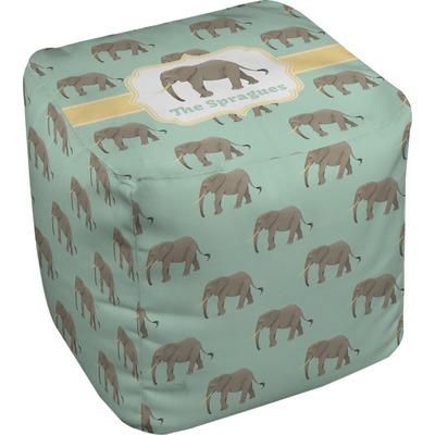Elephant Cube Pouf Ottoman (Personalized)