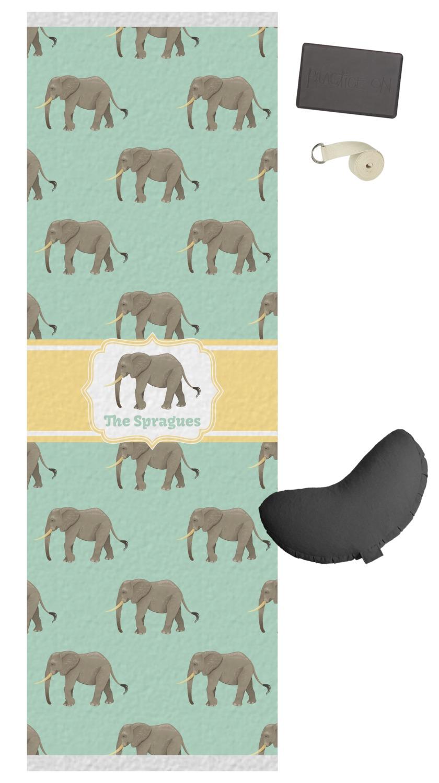 Elephant Yoga Mat Personalized You Customize It