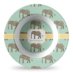 Elephant Plastic Bowl - Microwave Safe - Composite Polymer (Personalized)