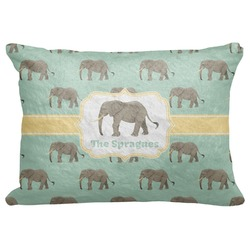 "Elephant Decorative Baby Pillowcase - 16""x12"" (Personalized)"