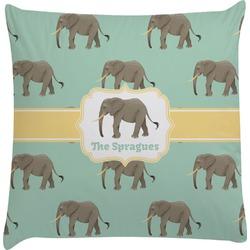 Elephant Decorative Pillow Case (Personalized)
