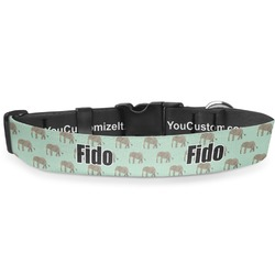 Elephant Deluxe Dog Collar (Personalized)