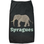 Elephant Black Pet Shirt (Personalized)