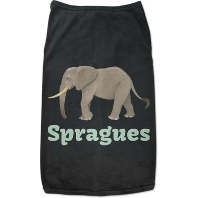 Elephant Black Pet Shirt (Personalized)