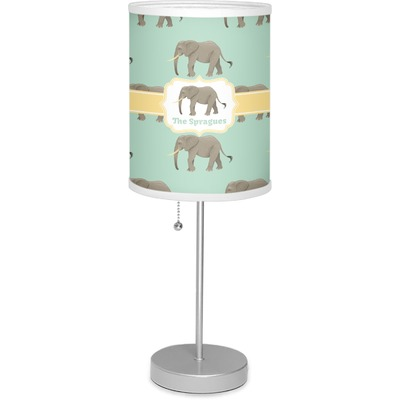 """Elephant 7"""" Drum Lamp with Shade (Personalized)"""